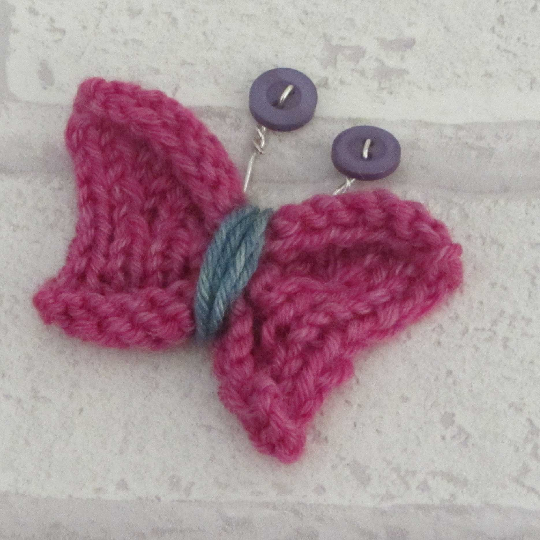 Knitting Pattern Butterfly : Super cute knitted butterfly tutorialjane burns jane