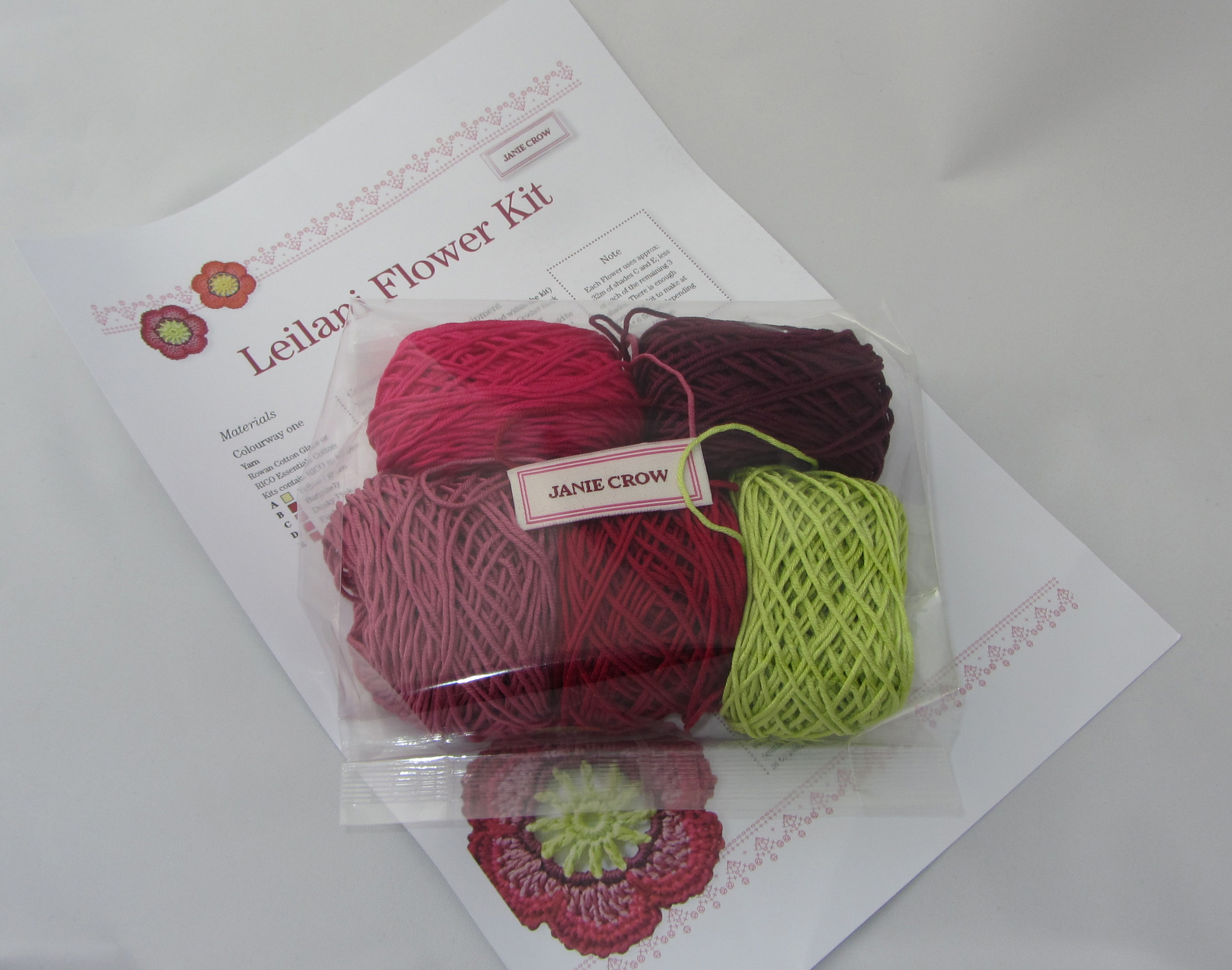 Crocheting Kit : Leilani crochet flower kit jane crowfoot