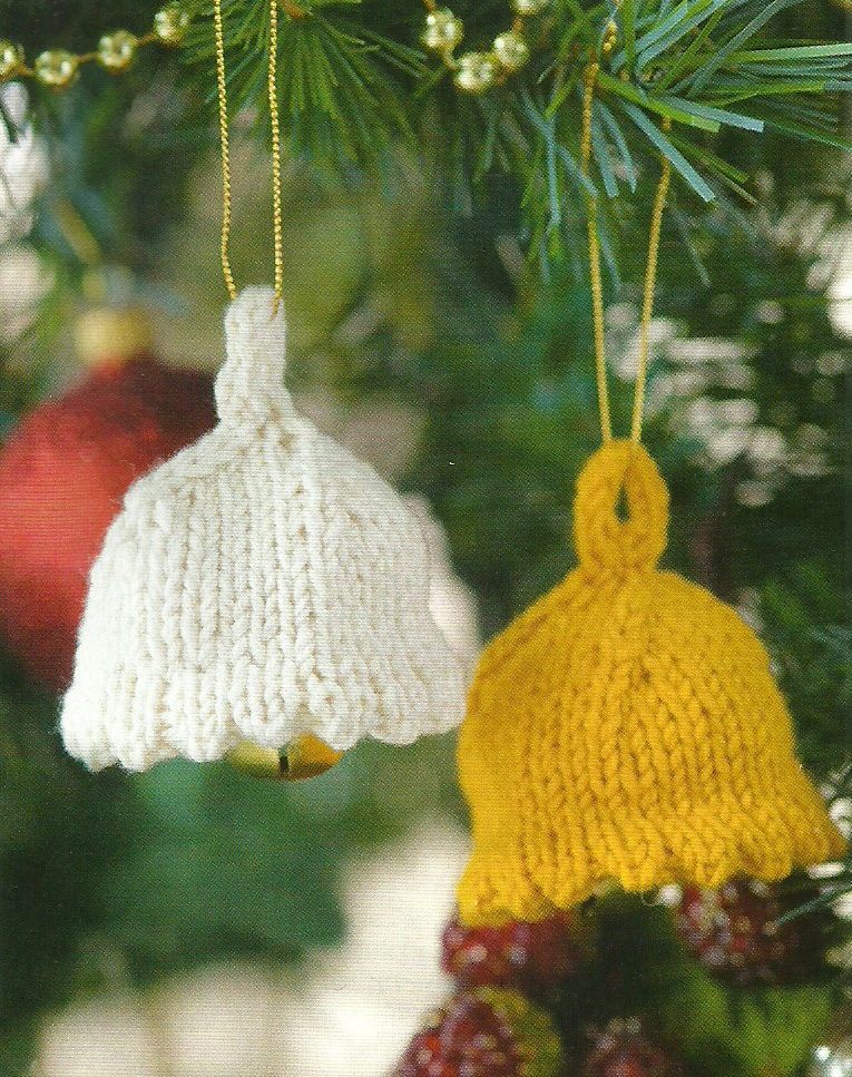 Knitting Pattern Christmas Bells : Deck the Halls with Bells and Holly, erm Robins, Bows, Candy Canes Jane Burns