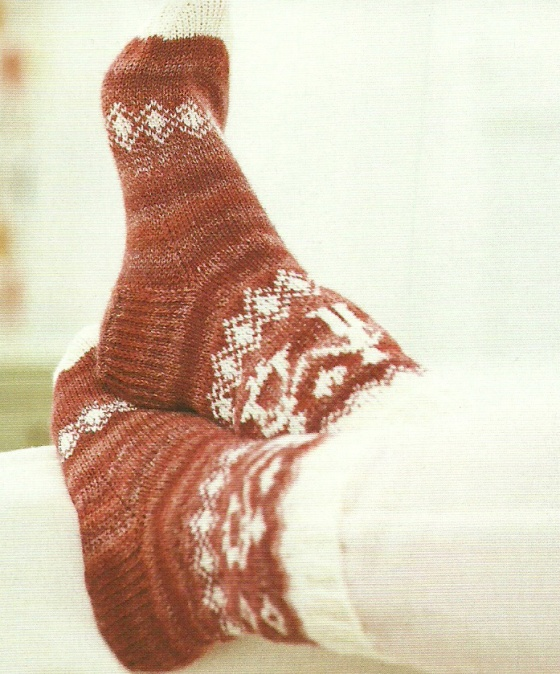 scandi holding hands socks crossed lets knit magazine