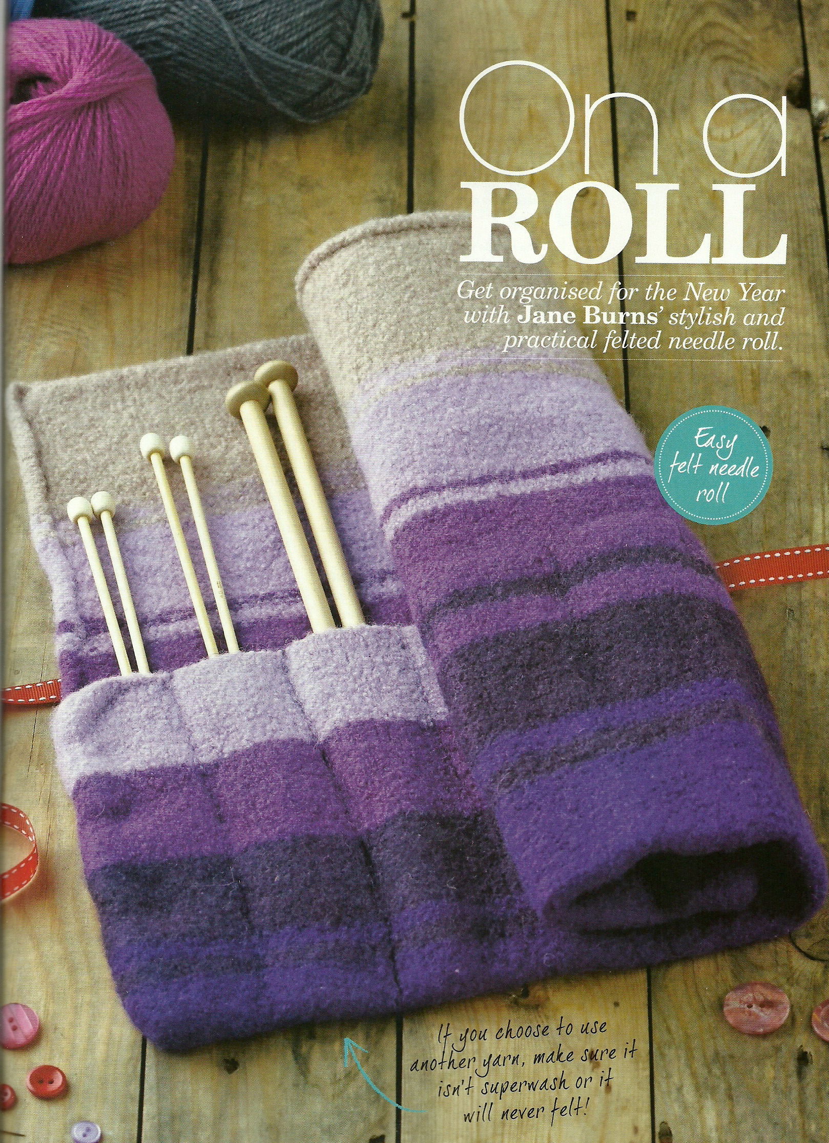 On a Roll, Inside this months Simply Knitting MagazineJane Burns ...