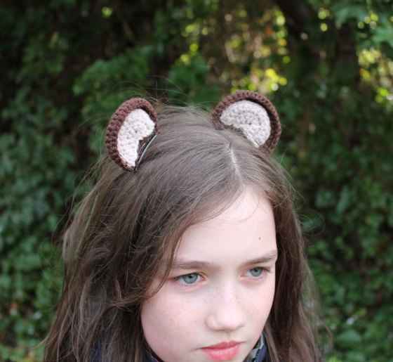 crochet bear ears clip jane burns