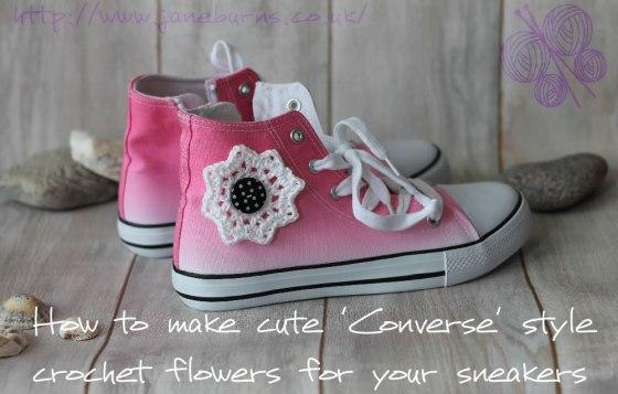 Converse-style Crochet Flower Tutorial