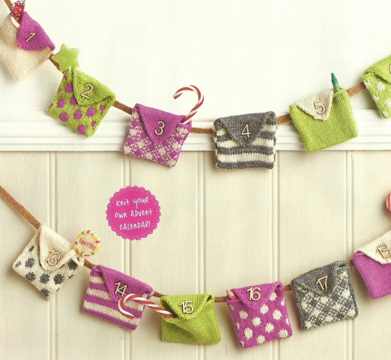 knitted bunting advent jane burns