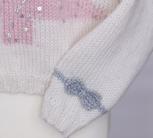 pink christmas sweater cuff jane burns