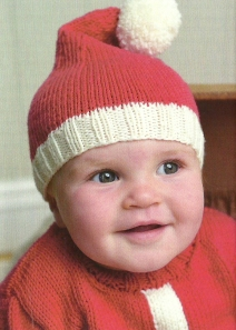 santa baby hat knitted jane burns