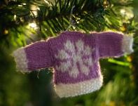 snowflake mini knitted sweater pattern jane burns christmas