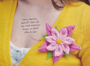 knitted corsage flower jane burns