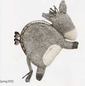 knitted donkey purse jane burns