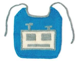 robot bib jane burns knit