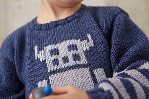robot jumper knit jane burns