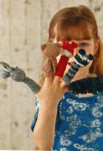 woodland finger puppets jane burns knit