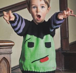 frankenstein sweater halloween jane burns knit