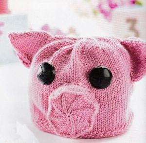 jane burns piggy hat knit