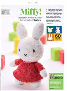 Miffy toy knitted jane burns