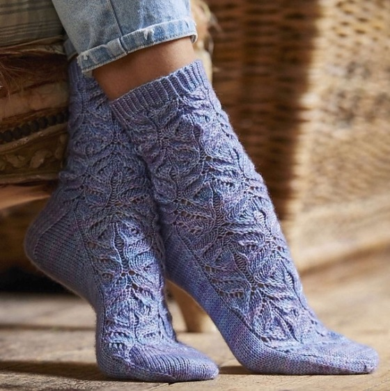 Teasel socks Jane burns knit
