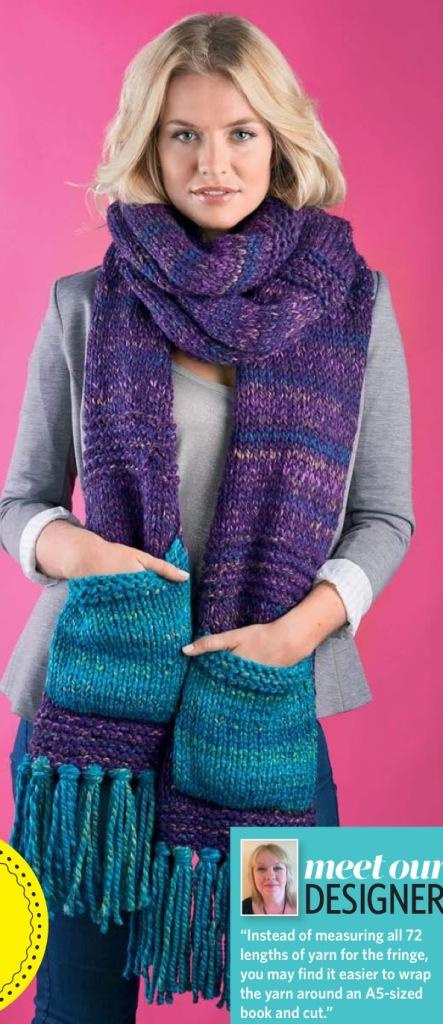 Think big scarf Jane burns knit