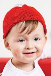 Santas little helper hat knit Jane burns