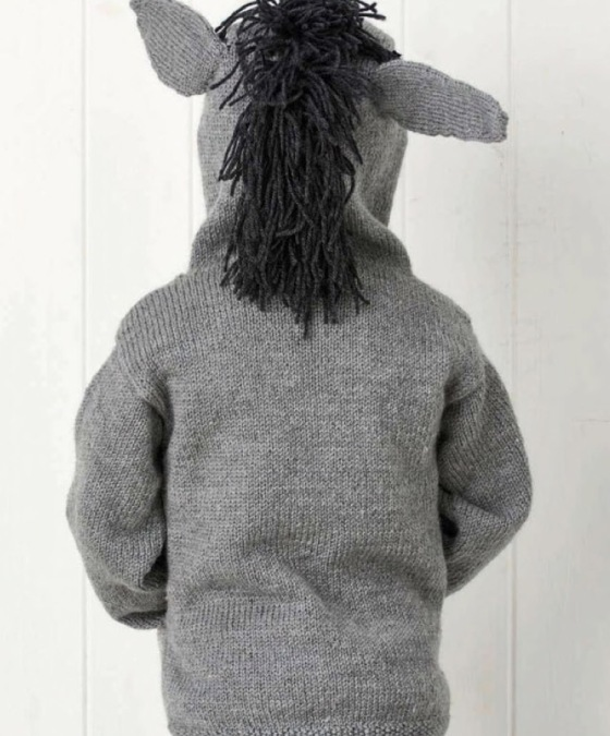 Little donkey sweater Jane burns knit
