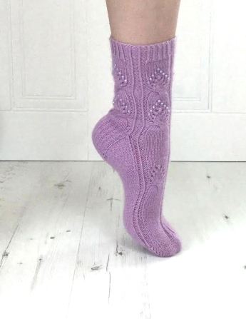 twisted love sock pattern